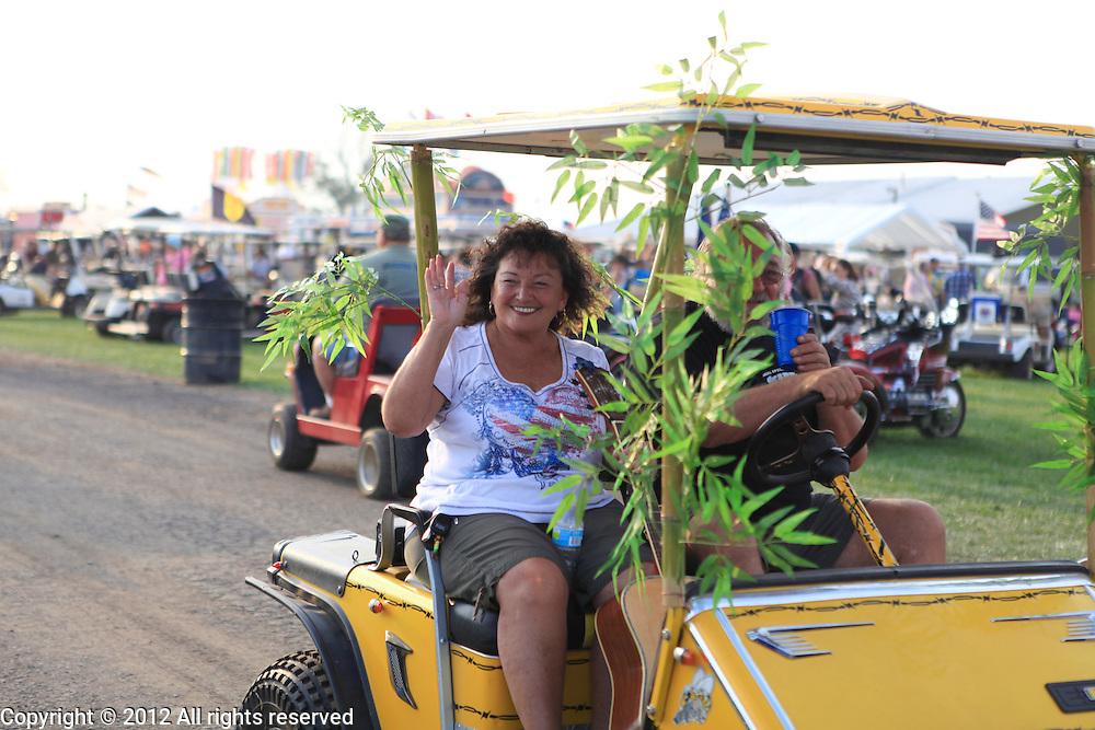 Kokomo Indiana Vietnam Veterans Reunion 2012 golf car parade