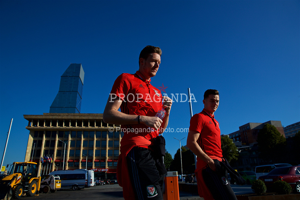TBILSI, GEORGIA - Friday, October 6, 2017: Wales' goalkeeper Wayne Hennessey during a pre-match walk around the Radisson Blu Iveria Hotel ahead of the 2018 FIFA World Cup Qualifying Group D match between Georgia and Wales. (Pic by David Rawcliffe/Propaganda)