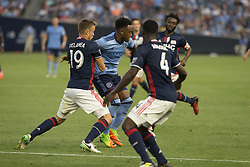 August 20, 2017 - New York, New York, United States - Rodney Wallace (23) of NYC FC controls ball during regular MLS game against New England Revolution on Yankee stadium NYC FC won 2 - 1  (Credit Image: © Lev Radin/Pacific Press via ZUMA Wire)
