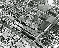 1928 Aerial view of Warner Bros. studios on Sunset Blvd.