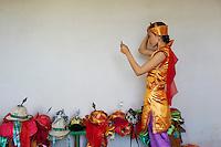 Mongolie, province de Arkhangai, Tsetserleg, Jijmaa, 23 ans, participe a la fete du Naadam // Mongolia, Arkhangai province, Jijmaa, 23,  take part at the Naadam festival
