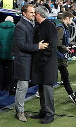 04-12-2012 VOETBAL: CL REAL MADRID - AFC AJAX AMSTERDAM: MADRID<br /> Jose Mourinho and coach Frank de Boer <br /> ***NETHERLANDS ONLY***<br /> ©2012-FotoHoogendoorn.nl