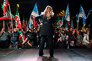 Giorgia Meloni. Evento di chiusura della campagna elettorale del partito Fratelli d'Italia ad Ostia. Roma 17 novembre 2017. Christian Mantuano / OneShot<br />