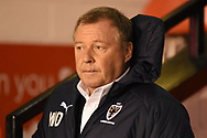 AFC Wimbledon Manager Wally Downes during the EFL Sky Bet League 1 match between Walsall and AFC Wimbledon at the Banks's Stadium, Walsall, England on 12 February 2019.