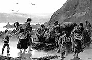Distress in Ireland. Collecting limpets and seaweed for food in the west of Ireland after failure of the potato crop. From 'The Illustrated London News', 1886.