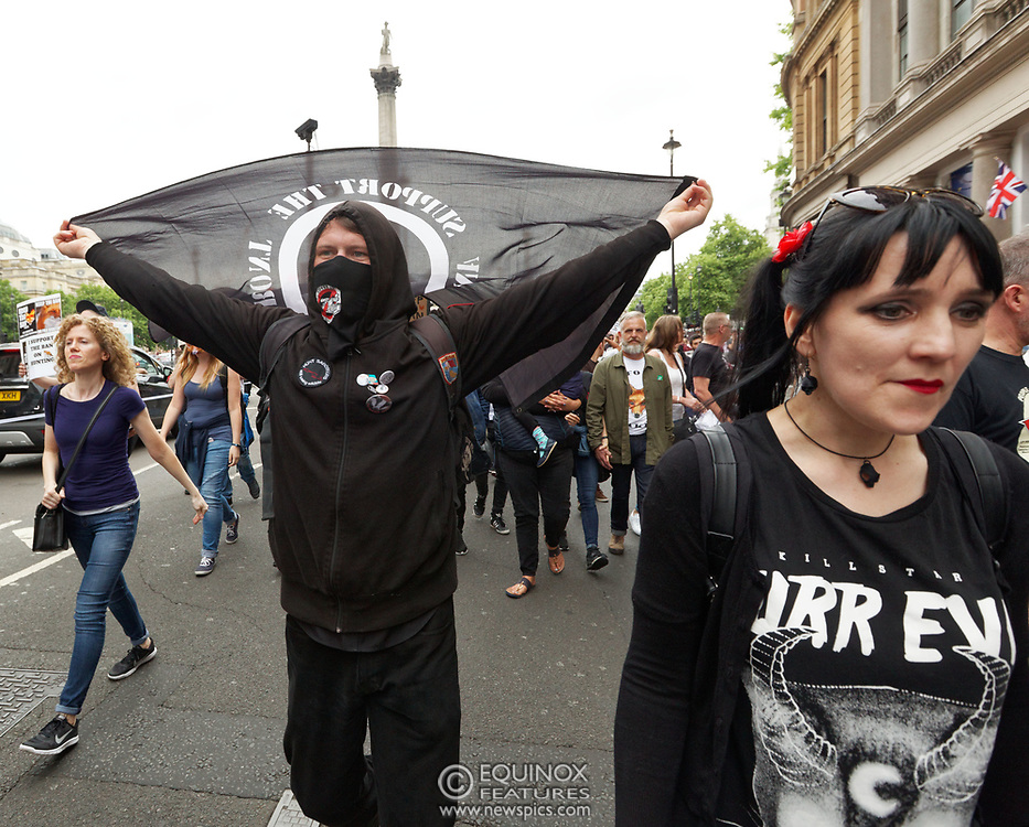London, United Kingdom - 29 May 2017<br /> Members of the Hunt Saboteurs Association and other anti-hunting protestors march through central London to protest against the Conservative Party's manifesto promise to lift the ban on fox hunting. The protesters slogan is #keeptheban. They marched from Cavendish Square to Downing Street, Whitehall, London, England, UK.<br /> www.newspics.com/#!/contact<br /> (photo by: EQUINOXFEATURES.COM)<br /> Picture Data:<br /> Photographer: Equinox Features<br /> Copyright: ©2017 Equinox Licensing Ltd. +448700 780000<br /> Contact: Equinox Features<br /> Date Taken: 20170529<br /> Time Taken: 13221922