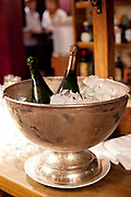 Champagne on ice in Don Julio Parilla, a famous steak house in Palermo, Buenos Aires, Federal District, Argentina.