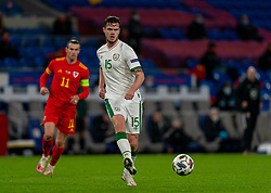 CARDIFF, WALES - Sunday, November 15, 2020: Republic of Ireland's Kevin Long during the UEFA Nations League Group Stage League B Group 4 match between Wales and Republic of Ireland at the Cardiff City Stadium. Wales won 1-0. (Pic by David Rawcliffe/Propaganda)