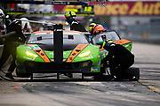 March 12-16, 2019: Mobil 1 12 hours of Sebring. #11 GRT Grasser Racing Team Lamborghini Huracan GT3, Orange 1 Racing, GTD: Mirko Bortolotti, Rik Breukers, Rolf Ineichen pitstop