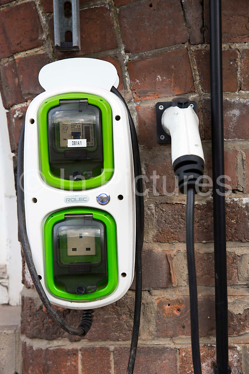 An electric car charging point in Nottingham, Nottinghamshire, United Kingdom. Nottingham was declared England's least car-dependent city in 2010, and sports many sustainable methods of transport.