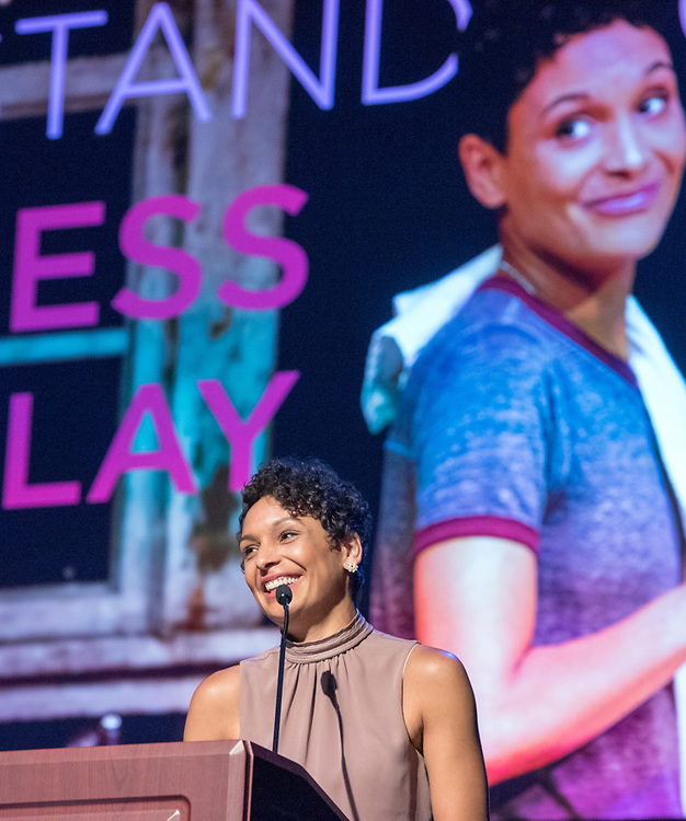 Photo by Mara Lavitt<br /> June 26, 2017<br /> Fairfield, CT<br /> The Connecticut Critics Circle 27th Annual Awards, held at the Edgerton Center for the Performing Arts, Sacred Heart University, Fairfield. Vanessa R. Butler.