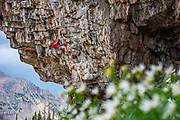 Laur Sabourin on Sessions 5.12a, The Stone Garden, Uintas, Utah
