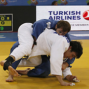 Rusia's Sirazhudin MAGOMEDOV (B) and MDA's Sergiu TOMA (F) during their men's 81 kg. category bout at the European Judo Championships in the Abdi Ipekci Arena, Istanbul, Turkey on 22 April 2011. Photo by TURKPIX