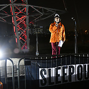Speaker Di Gornall is a Director of fundraising join Sleep Out fundraiser to help homeless young people at Greenwich Peninsula Quay on 15 November 2018, London, UK.