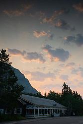 Swiftcurrent Motor Inn at Sunrise, Glacier National Park, Montana, US