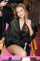 November 8, 2018 - New York, New York, United States - Model Gigi Hadid has her hair and make-up done prior to the Victoria's Secret Rinway show on November 8 2018 in New York City  (Credit Image: © Philip Vaughan/Ace Pictures via ZUMA Press)