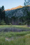 Morning light on mountains, Hoover Wilderness, Humbolt-Toiyabe National Forest, California