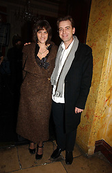 TRACEY EMIN and SCOTT DOUGLAS at jeweller Stephen Webster's Christmas party held at Home House, 20 Portman Square, London W1 on 11th December 2006.<br />