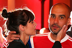 "17.05.2014, T Com, Berlin, GER, DFB Pokal, Bayern Muenchen Pokalfeier, im Bild Josep Guardiola, head coach of Bayern Muenchen and his wife Cristina Serra Josep Guardiola, Cristina Serra, // during the FC Bayern Munich ""DFB Pokal"" Championsparty at the T Com in Berlin, Germany on 2014/05/17. EXPA Pictures © 2014, PhotoCredit: EXPA/ Eibner-Pressefoto/ EIBNER<br /> <br /> *****ATTENTION - OUT of GER*****"