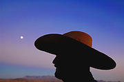 Moonrise in the Chisos. Terlingua Ghost Town, Texas.