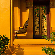 Architectural detail of Wat Mixai in Vientiane