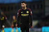 Sergio Aguero of Manchester City looking on. Premier League match, Crystal Palace v Manchester city at Selhurst Park in London on Saturday 19th November 2016. pic by John Patrick Fletcher, Andrew Orchard sports photography.