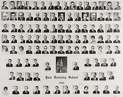 1965 Yale Divinity School Senior Portrait Class Group Photograph