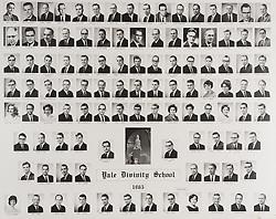 1965 Yale Divinity School Senior Portrait Class Group Photograph