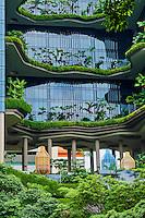 Singapour, le quartier colonial et Boat Quay, Parkroyal hotel // Singapore, Colonial District and Boat Quay, Parkroyal hotel