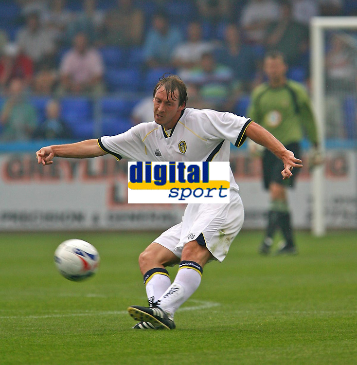 Photo: Andrew Unwin.<br />Hartlepool United v Leeds United. Pre Season Friendly. 22/07/2006.<br />Former Millwall captain, David Livermore, is now a Leeds player.