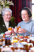 ladies judging homemade marmalade at a country show