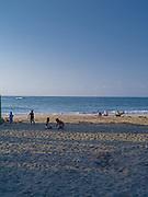 The sun sets at the beach at Manzanillo, Limon, Costa Rica.