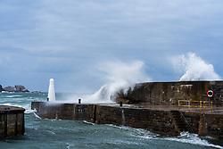 Huge waves crash over the harbour walls in Cullen, Morayshire (c) Ross Eaglesham  Edinburgh Elite media