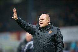 Dundee United's manager Mixu Paatelainen at the end. <br /> Dundee 2 v 1  Dundee United, SPFL Ladbrokes Premiership game played 2/1/2016 at Dens Park.