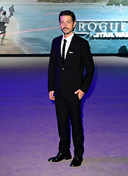 Diego Luna attending the premiere of Rogue One: A Star Wars Story at the Tate Modern, London. PRESS ASSOCIATION Photo. Picture date: Tuesday December 13, 2016. See PA story SHOWBIZ Rogue One. Photo credit should read: Ian West/PA Wire
