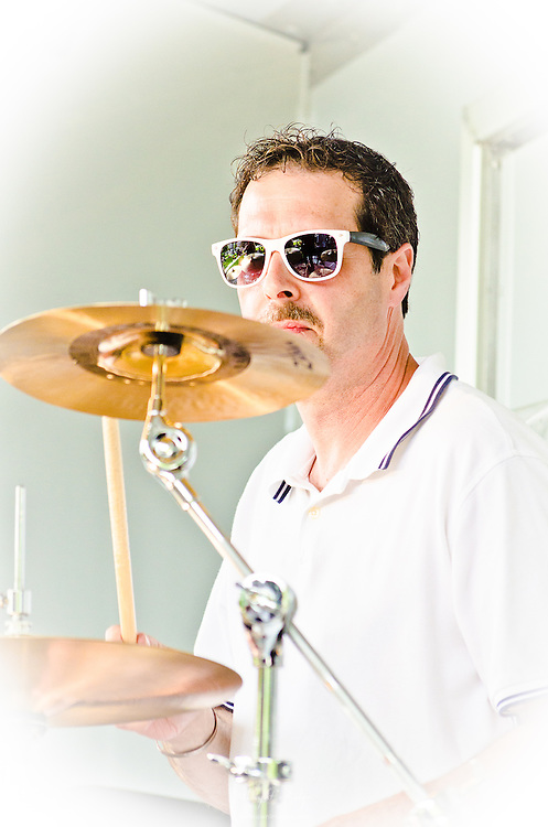 """Jim Cooper on drums for """"Wendy Betz and The Riseing"""" (that's not a misspelling)."""