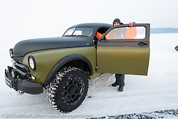 Slava's GAZ-M20 Pobeda (produced in the Soviet Union from 1946-58) parading on the 3-feet of ice that covers Lake Baikal every winter. Maksimiha, Siberia, Russia. Saturday, February 29, 2020. Photography ©2020 Michael Lichter.