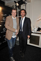 Left to right, TOM PARKER-BOWLES and DAN MACMILLAN at Quintessentially's 10th birthday party held at The Savoy Hotel, London on 13th December 2010.