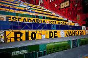 Rio de Janeiro_RJ, Brasil.. .Escadaria Selaron do Convento Santa Tereza na Lapa, Rio de Janeiro...Selaron stairs of Santa Tereza Convent in Lapa, Rio de Janeiro...Foto: BRUNO MAGALHAES / NITRO