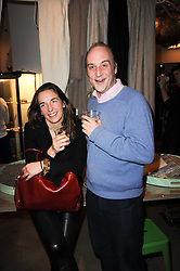 VISCOUNT CRICHTON and  at reception to raise funds for a Ugandan School Project supported by the Henry van Straubenzee Memorial Fund held at Few & Far, 242 Brompton Road, London SW3 on 11th February 2010.
