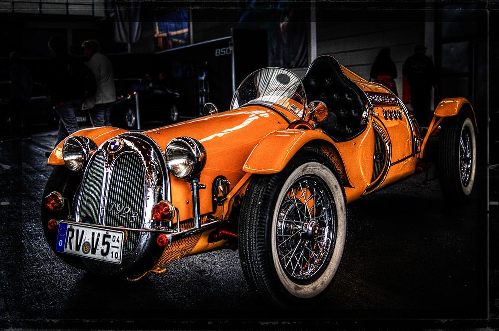 The Orange BMW - oldtimer at Klassikwelt in Friedrichshafen