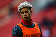 Charlton Athletic forward Lyle Taylor (9) warms up before the EFL Sky Bet League 1 match between Charlton Athletic and Accrington Stanley at The Valley, London, England on 19 January 2019.