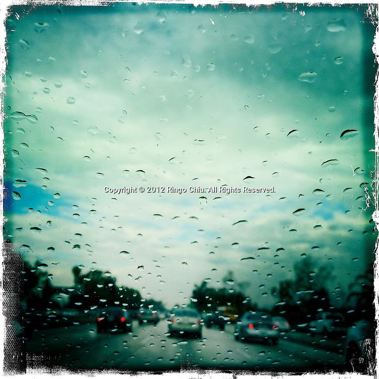 Rainy day in Los Angeles, California, USA. (Photo by Ringo Chiu/PHOTOFORMULA.com).