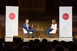 © Licensed to London News Pictures. 27/09/2018. London, UK. Writer Yuval Noah Harari and actress Natalie Portman take part in an How To Academy event at Central Hall Westminster. Photo credit: Ray Tang/LNP<br /> *EXCLUSIVE RATES*