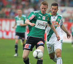 29.04.2012, Keine Sorgen Arena, Ried, AUT, 1. FBL, SV Josko Ried vs SK Rapid Wien, 32. Spieltag, im Bild Thomas Reifeltshammer, (SV Josko Ried, #28) und Guido Burgstaller, (SK Rapid Wien, #30), during the Austrian Bundesliga Match, 32nd Round, between SV Josko Ried and SK Rapid Wien at the Keine Sorgen Arena, Ried, Austria on 20120429. EXPA Pictures © 2012, PhotoCredit: EXPA/ R. Hackl