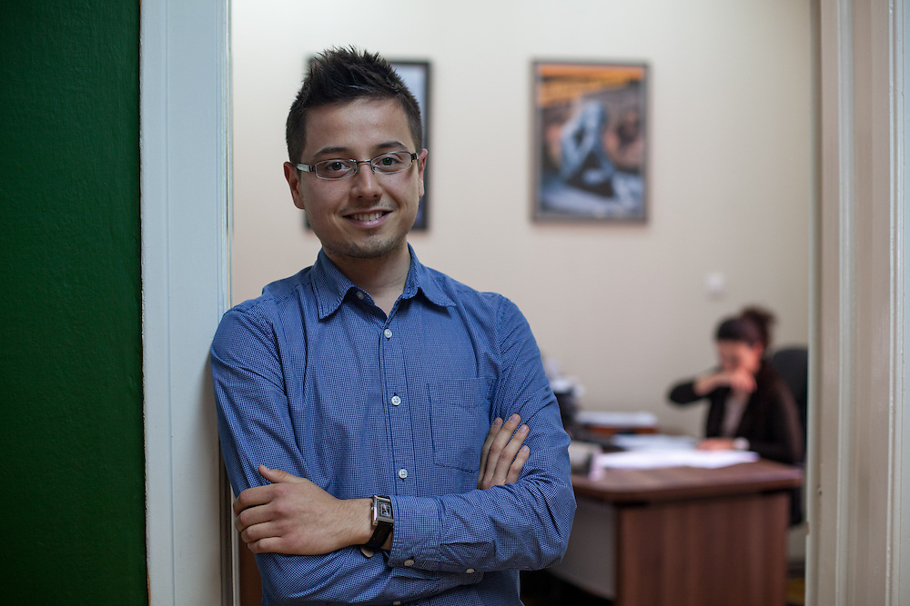 Portrait of Darko Antik - Coordinator of the Program for Budget Monitoring and Analysis at the ESE office in Skopje, Macedonia.