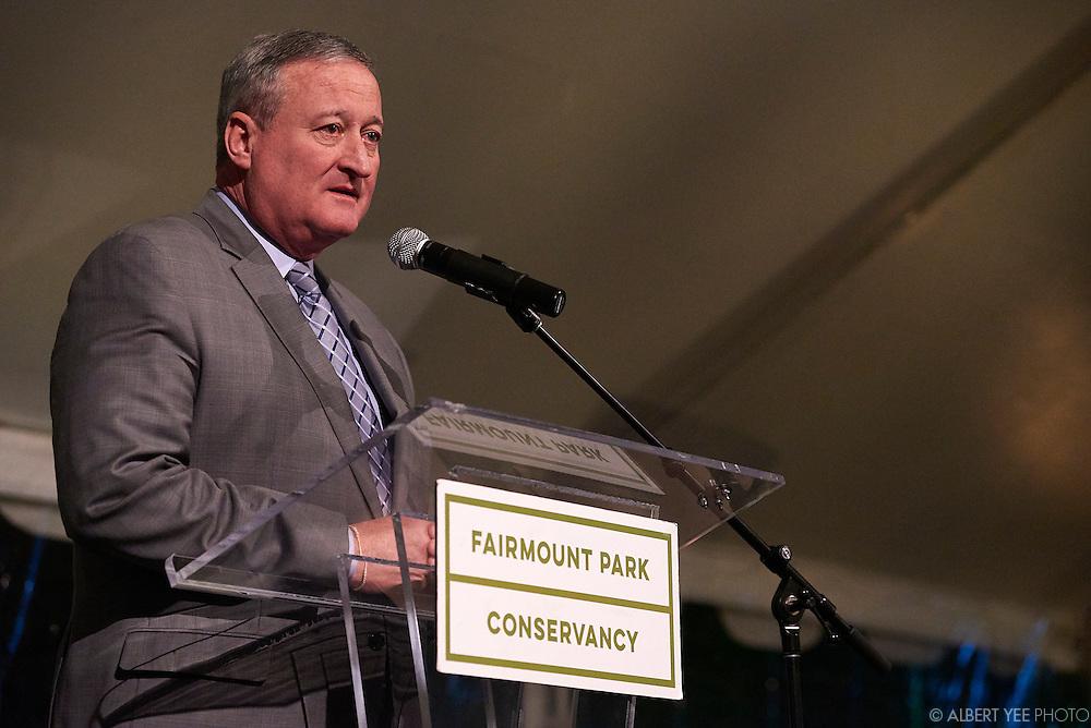 Mayor James Kenney, award for Civic Leadership<br /> at the Fairmount Park Horticulture Center<br /> April 29, 2016