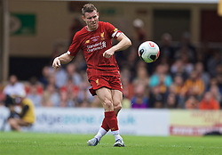 BRADFORD, ENGLAND - Saturday, July 13, 2019: Liverpool's James Milner during a pre-season friendly match between Bradford City AFC and Liverpool FC at Valley Parade. (Pic by David Rawcliffe/Propaganda)  BRADFORD, ENGLAND - Saturday, July 13, 2019: Liverpool's xxxx during a pre-season friendly match between Bradford City AFC and Liverpool FC at Valley Parade. (Pic by David Rawcliffe/Propaganda)