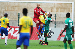 16092018(Durban) Goalkeeper Riyaad Pieterse holding a ball at a match were AmaZulu FC targeted an upset win over Mamelodi Sundowns when the teams meet at King Zwelithini Stadium on 16 September 2018<br /> Picture: Motshwrai Mofokeng/African News Agency (ANA)