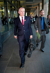 © London News Pictures. 29/10/2013 . London, UK.  WILLIAM MORRIS, managing director of SSE, leaving Portcullis house in Westminster, London after he and other bosses from the UK's leading energy companies faced questions from the Energy and Climate Change Committee about energy price rises. Photo credit : Ben Cawthra/LNP